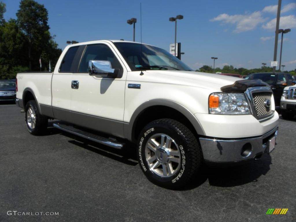 2007 f150 lariat supercab 4x4 white sand tri coat black photo 1