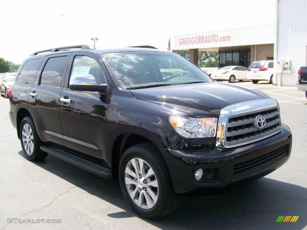 2010 Black Toyota Sequoia Limited 4wd 31743407 Gtcarlot