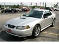 2001 Silver Metallic Ford Mustang V6 Coupe  photo #6