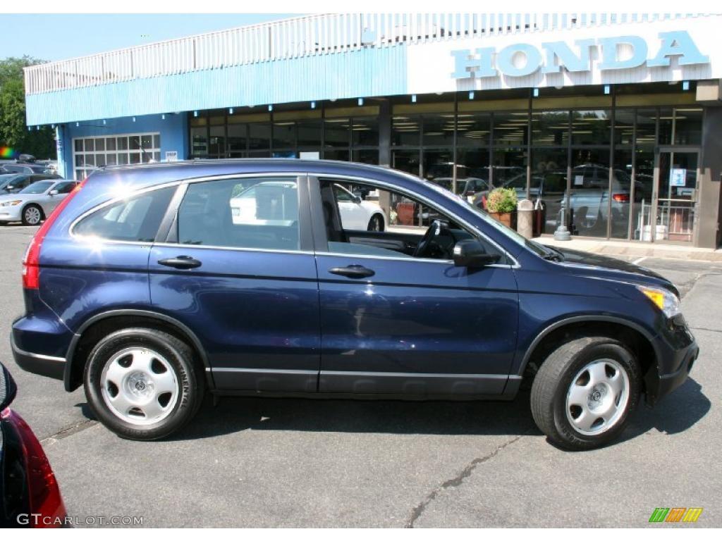 2008 CR-V LX 4WD - Royal Blue Pearl / Black photo #4