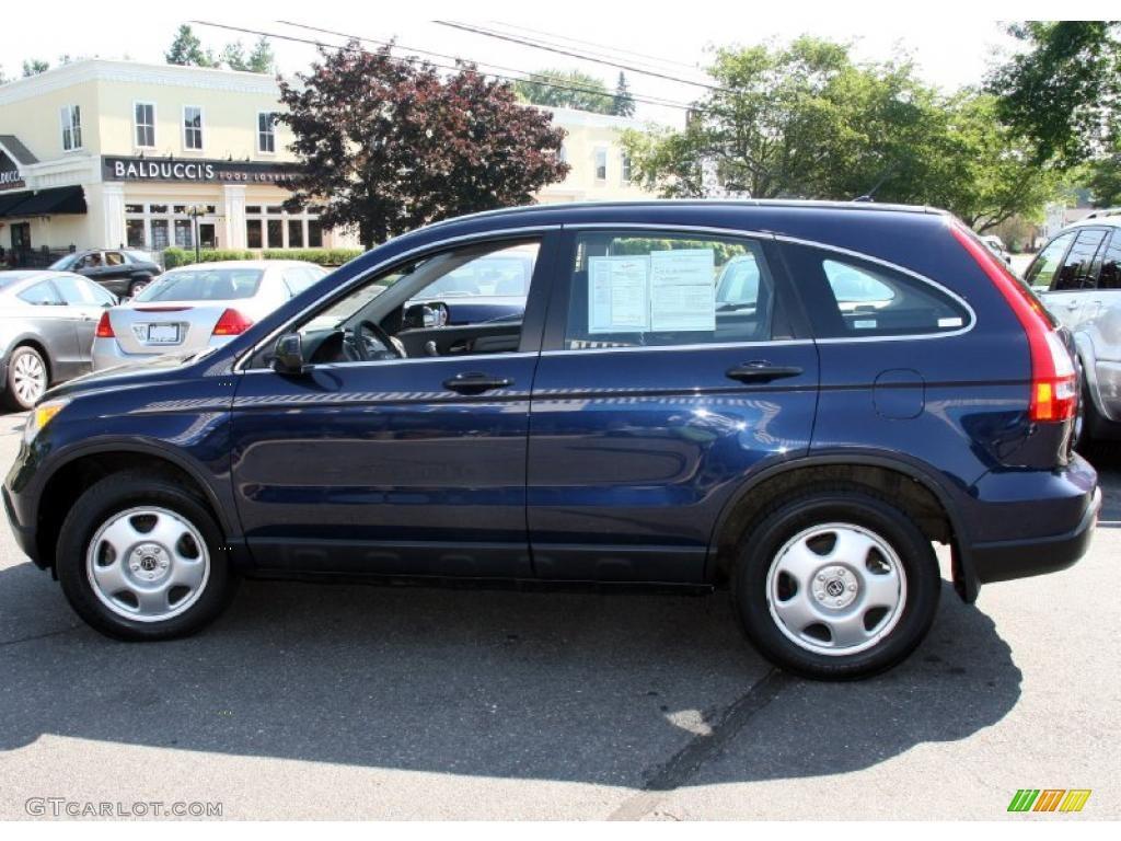 2008 CR-V LX 4WD - Royal Blue Pearl / Black photo #9