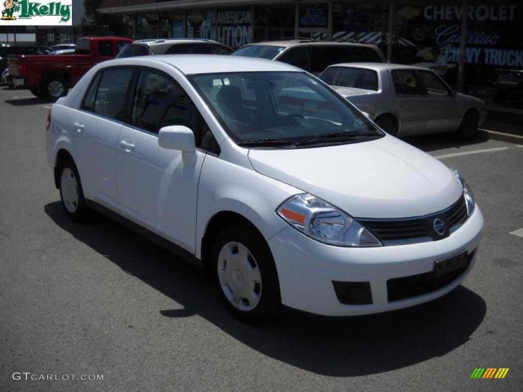 2008 Fresh Powder White Nissan Versa 1 8 S Sedan 31743270