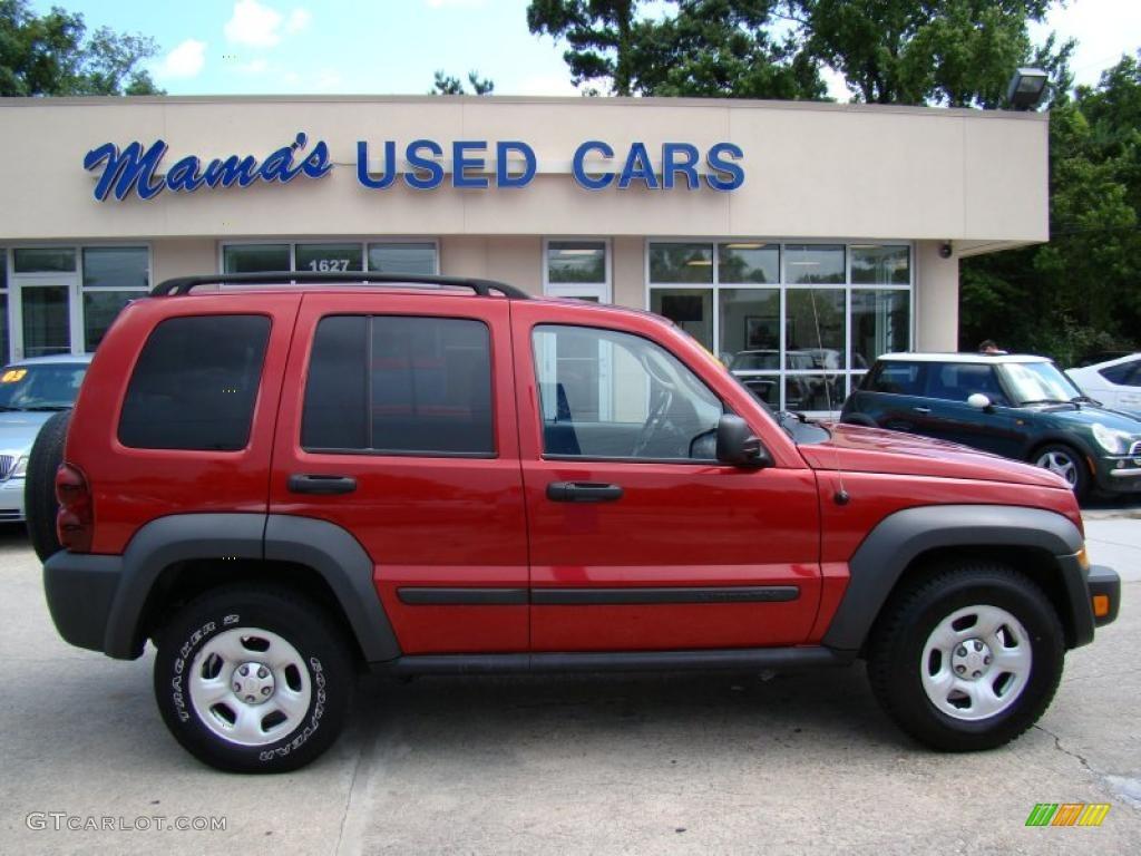 2006 inferno red pearl jeep liberty sport #31791447 | gtcarlot