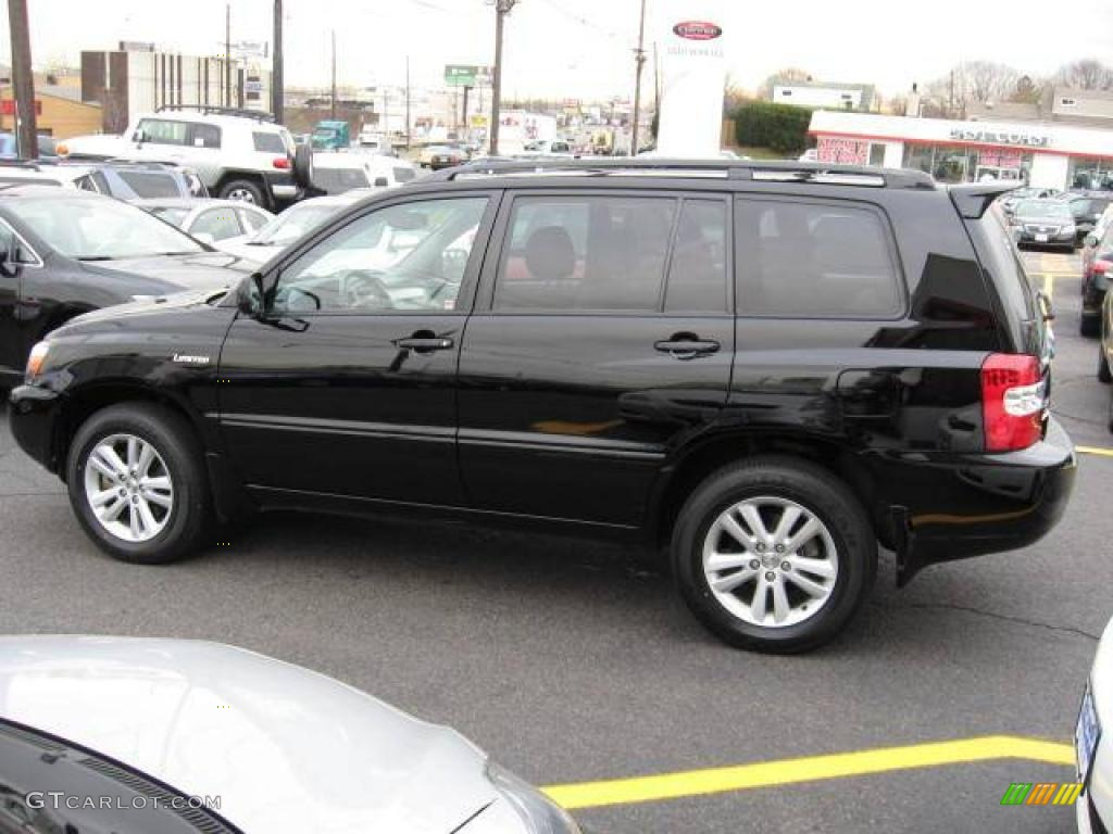 2006 highlander hybrid limited 4wd black ash gray photo 5