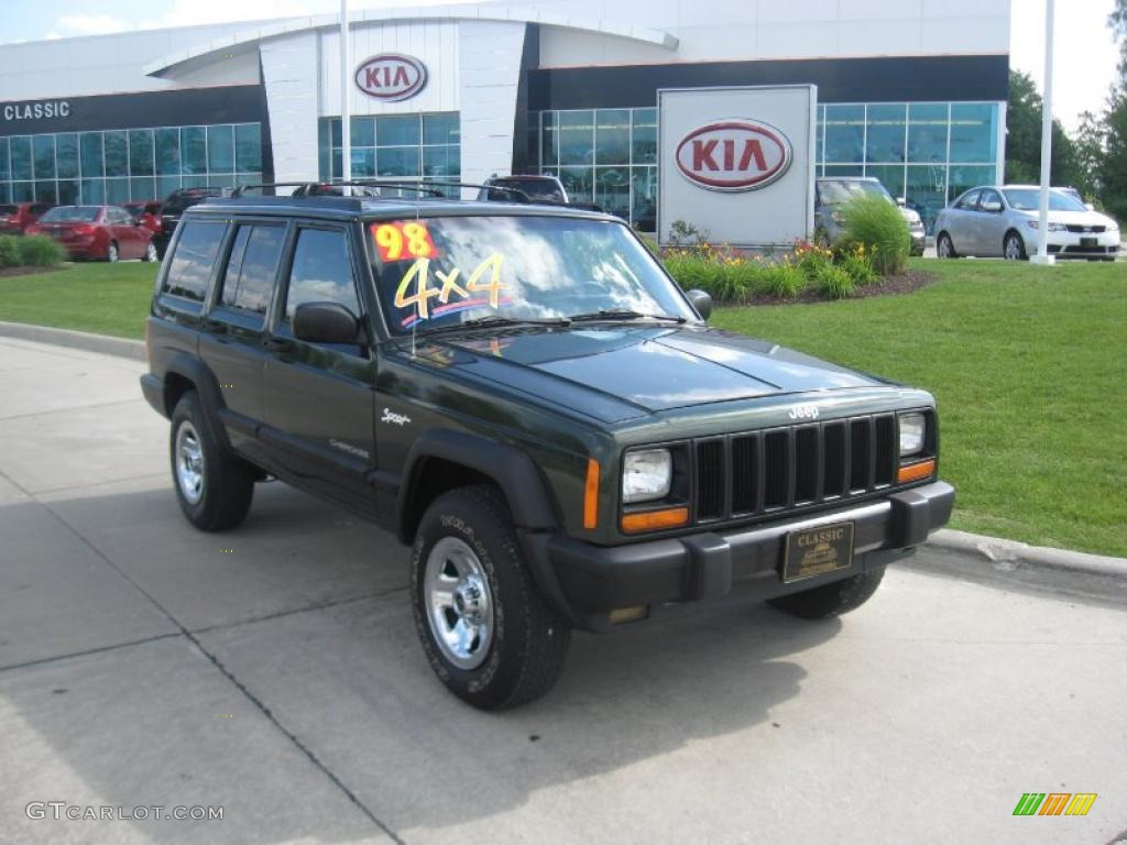 1998 jeep cherokee sport 4x4 moss green pearl color mist gray. Cars Review. Best American Auto & Cars Review