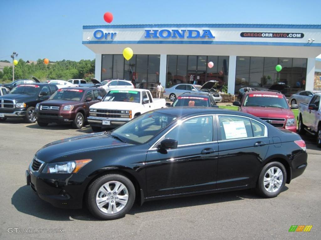 2010 Accord LX P Sedan   Crystal Black Pearl / Ivory Photo #1