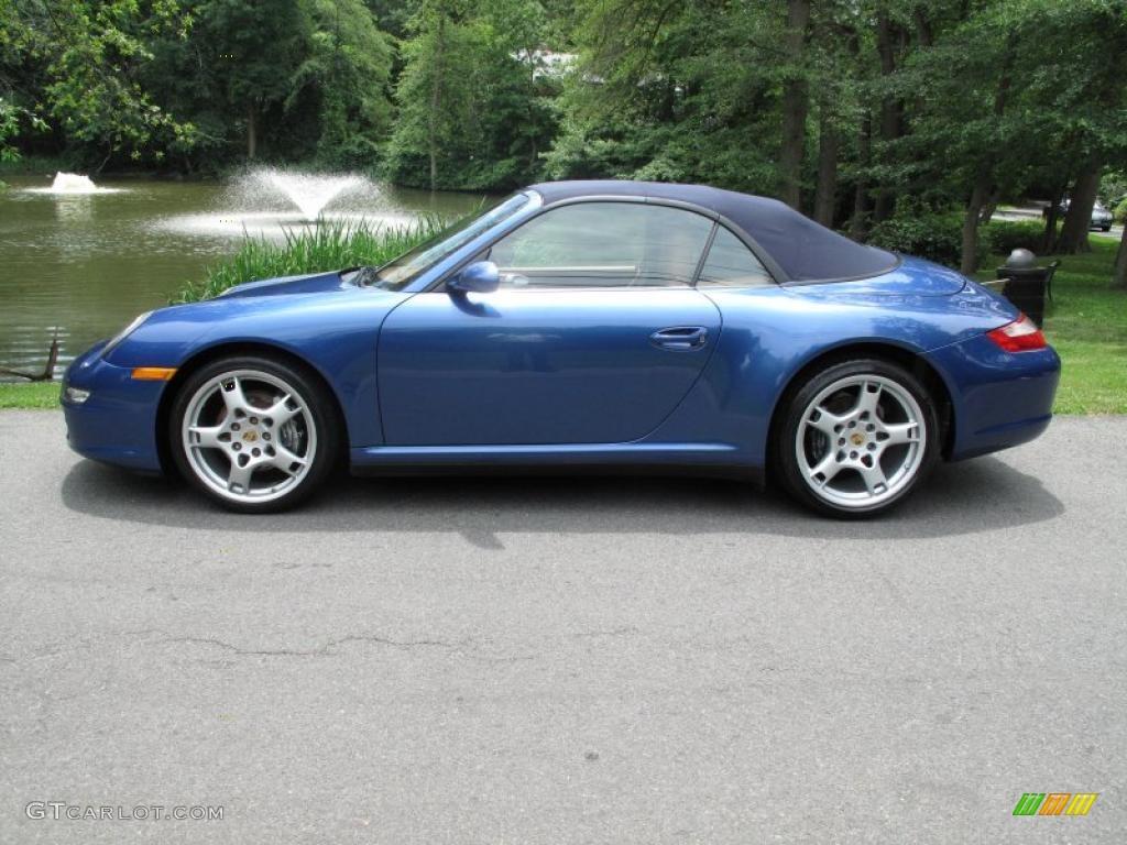2007 911 Carrera 4 Cabriolet - Cobalt Blue Metallic / Natural Leather Brown photo #3