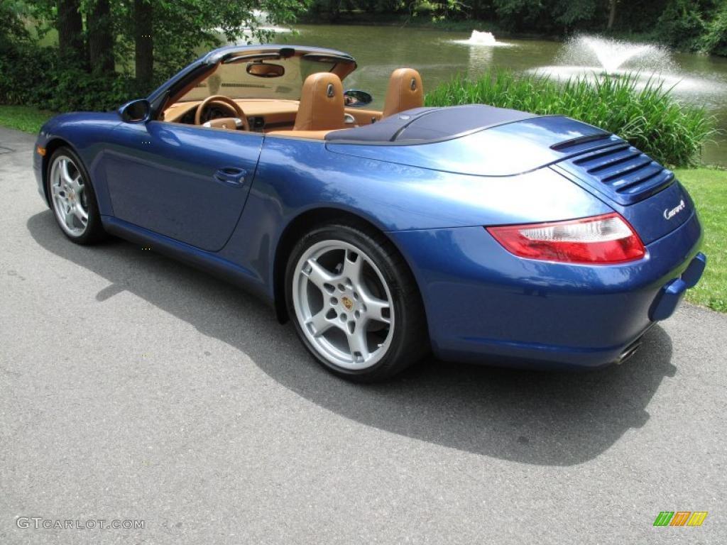 2007 911 Carrera 4 Cabriolet - Cobalt Blue Metallic / Natural Leather Brown photo #9