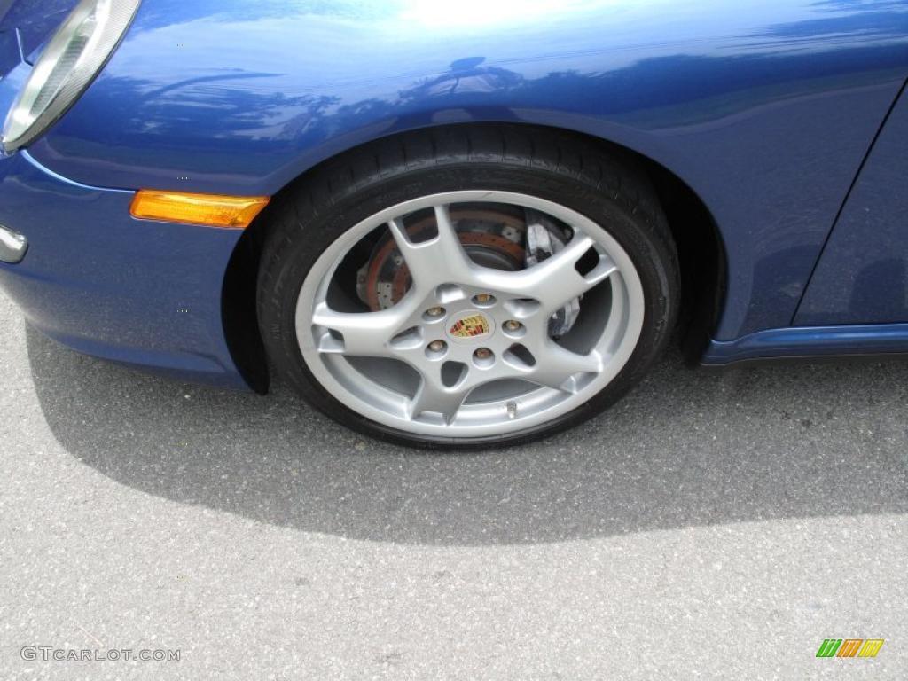 2007 911 Carrera 4 Cabriolet - Cobalt Blue Metallic / Natural Leather Brown photo #10