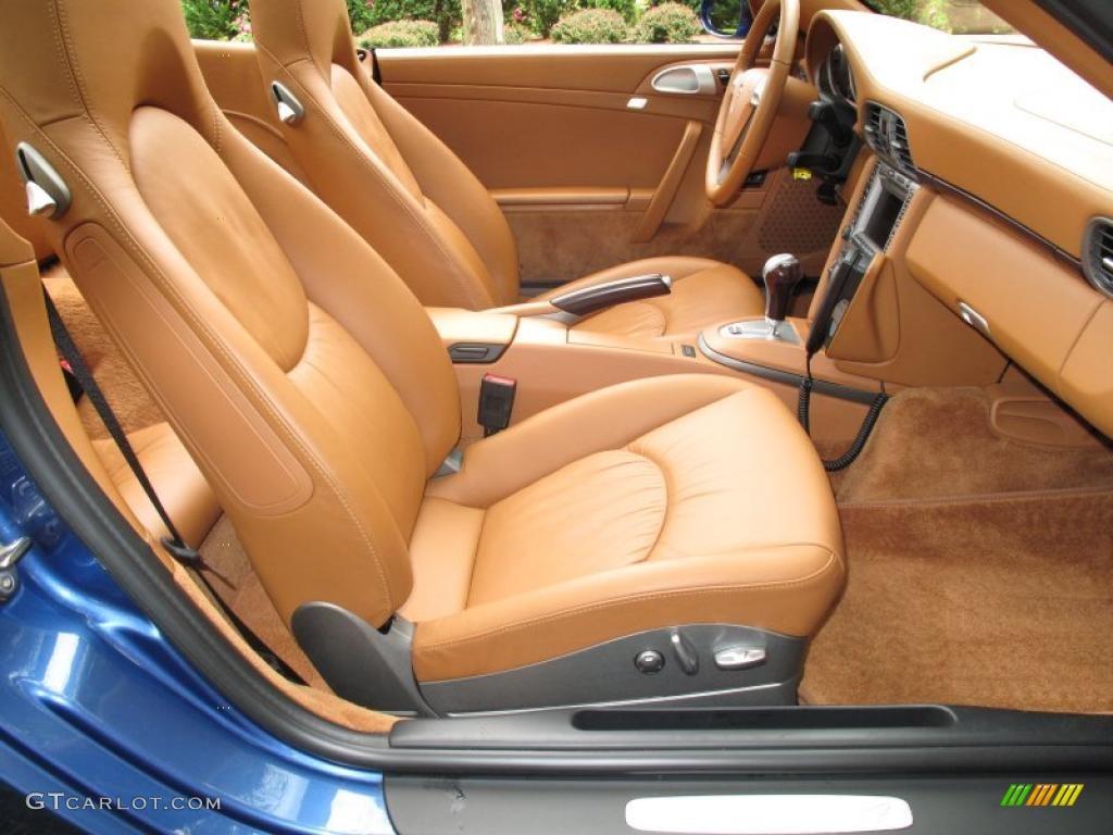 2007 911 Carrera 4 Cabriolet - Cobalt Blue Metallic / Natural Leather Brown photo #15