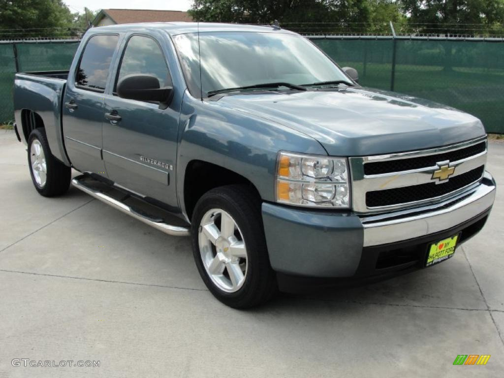 2008 blue granite metallic chevrolet silverado 1500 ls crew cab 31791359 car. Black Bedroom Furniture Sets. Home Design Ideas