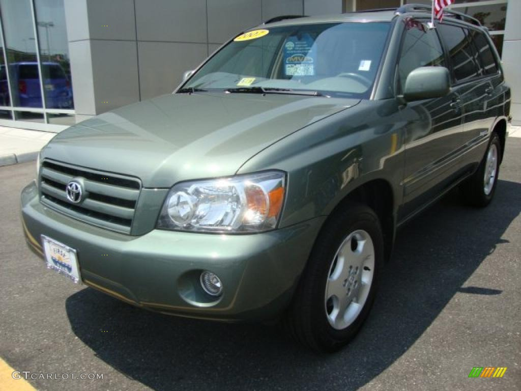 2007 Oasis Green Pearl Toyota Highlander Limited 4wd