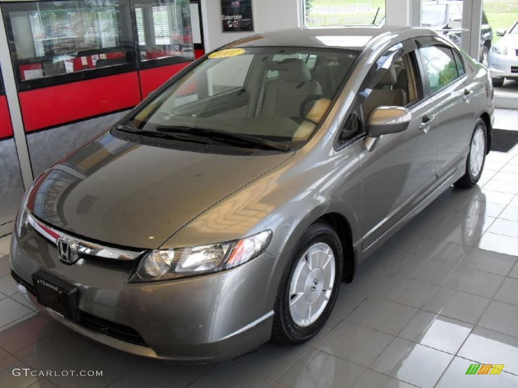 Galaxy Gray Metallic Honda Civic. Honda Civic Hybrid Sedan