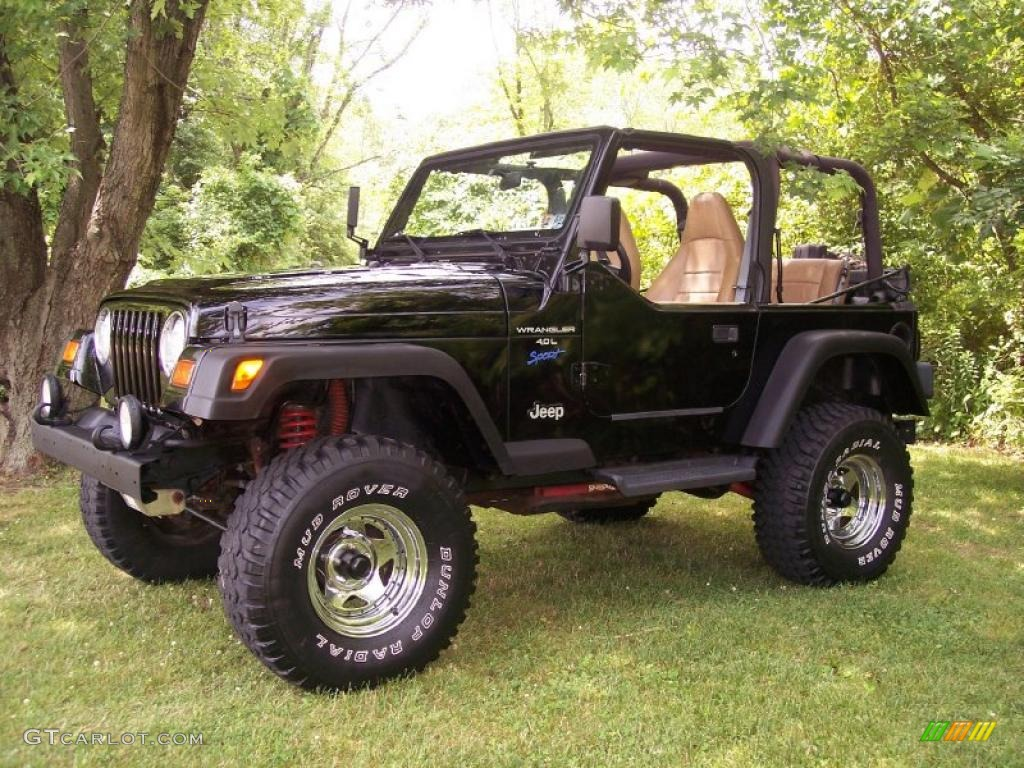 1997 Black Jeep Wrangler Sport 4x4 31851183 GTCarLotcom Car