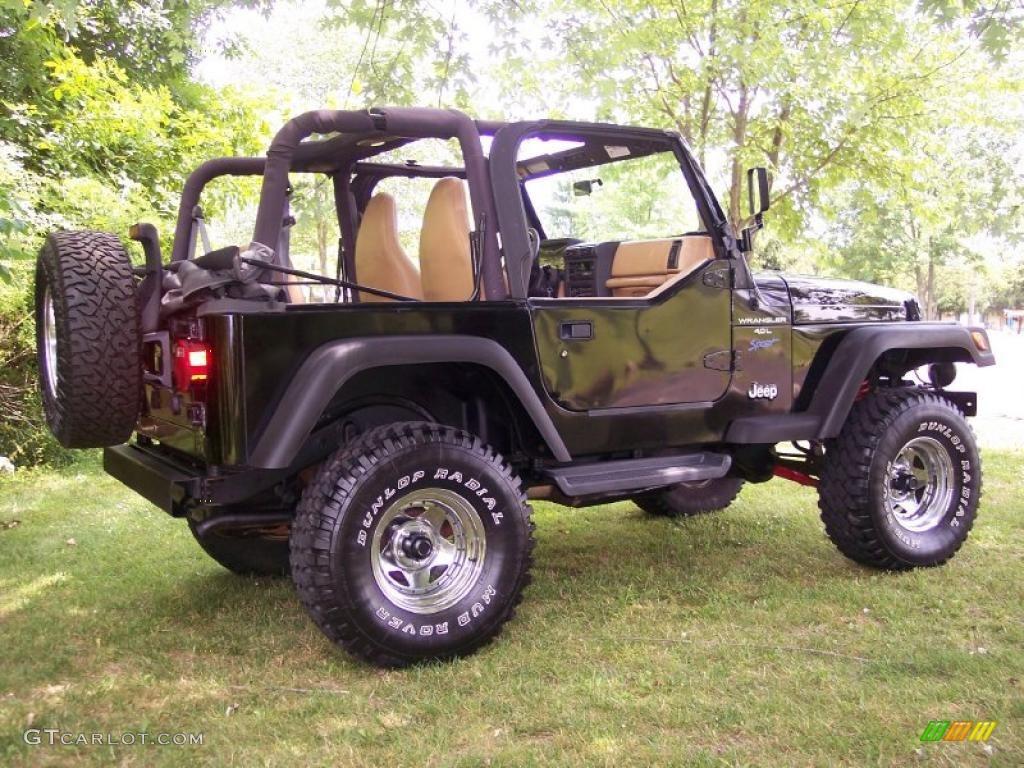 1997 Black Jeep Wrangler Sport 4x4 #31851183 Photo #36 ...