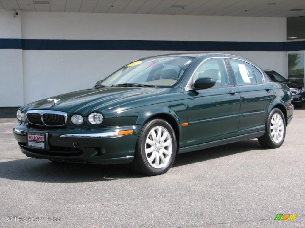 British racing green jaguar x type