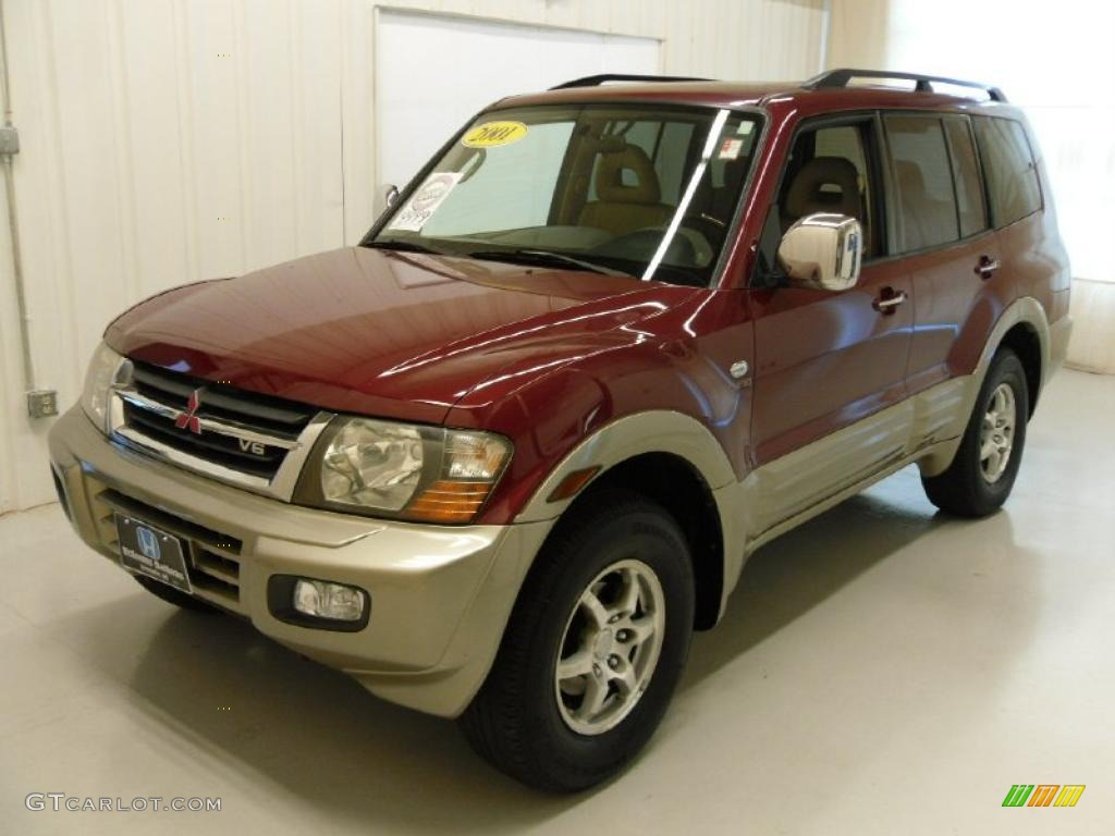 2001 Cambridge Red Pearl Mitsubishi Montero Limited 4x4