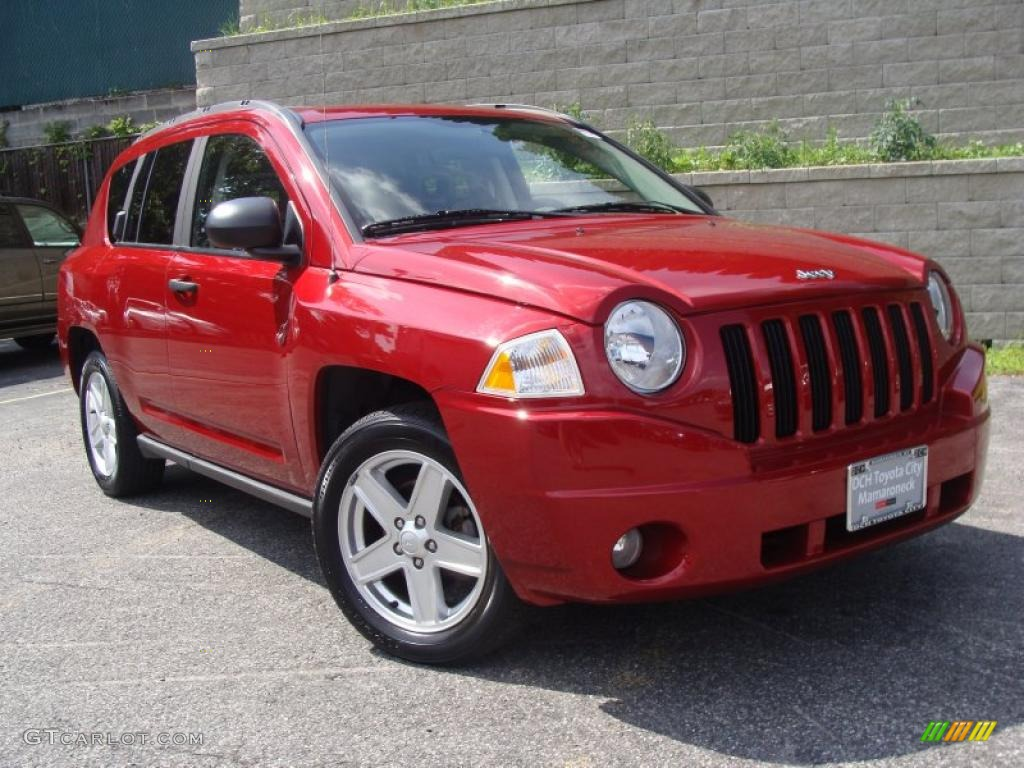 2007 inferno red crystal pearlcoat jeep compass sport 31851554 car color galleries. Black Bedroom Furniture Sets. Home Design Ideas