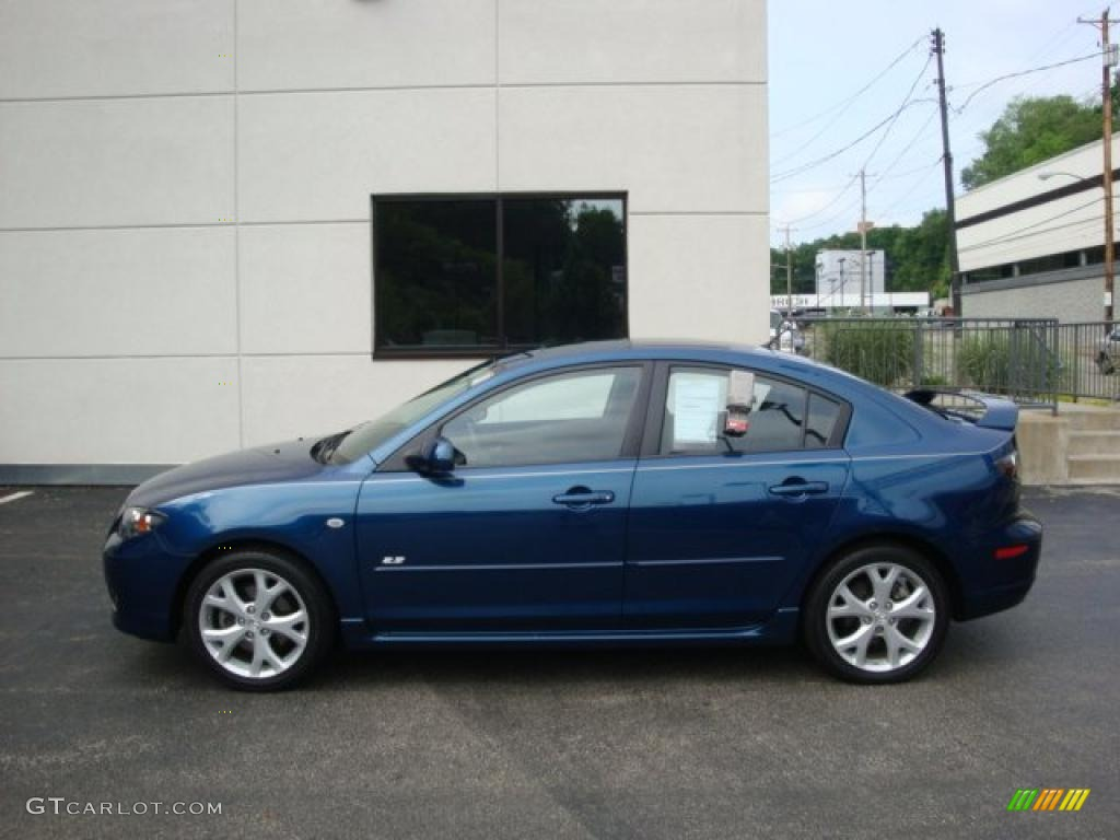 2008 phantom blue mica mazda mazda3 s touring sedan 31851564 car color galleries. Black Bedroom Furniture Sets. Home Design Ideas