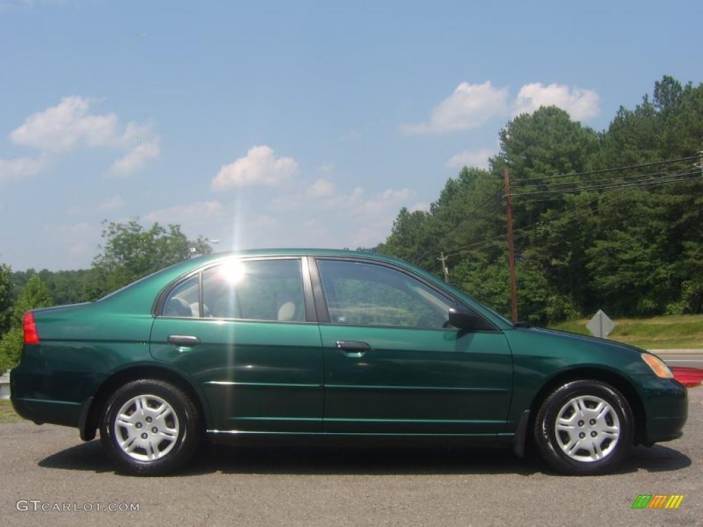 2001 clover green honda civic lx sedan 31900426 car color galleries. Black Bedroom Furniture Sets. Home Design Ideas