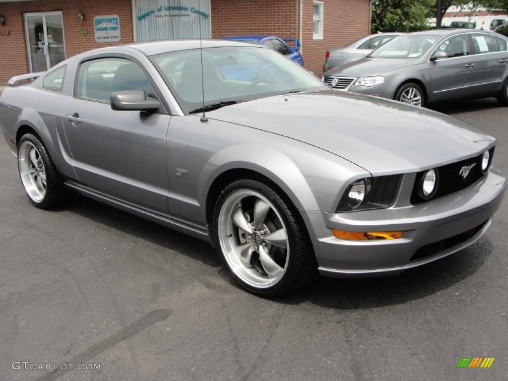 2007 Mustang GT Premium Coupe - Tungsten Grey Metallic / Black/Parchment photo #1