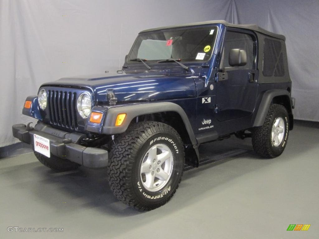 2004 patriot blue pearl jeep wrangler x 4x4 31900710 car color galleries. Black Bedroom Furniture Sets. Home Design Ideas