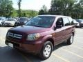 2007 Dark Cherry Pearl Honda Pilot LX 4WD  photo #19