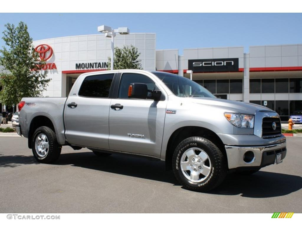 2008 silver sky metallic toyota tundra trd crewmax 4x4 31963713 car color. Black Bedroom Furniture Sets. Home Design Ideas