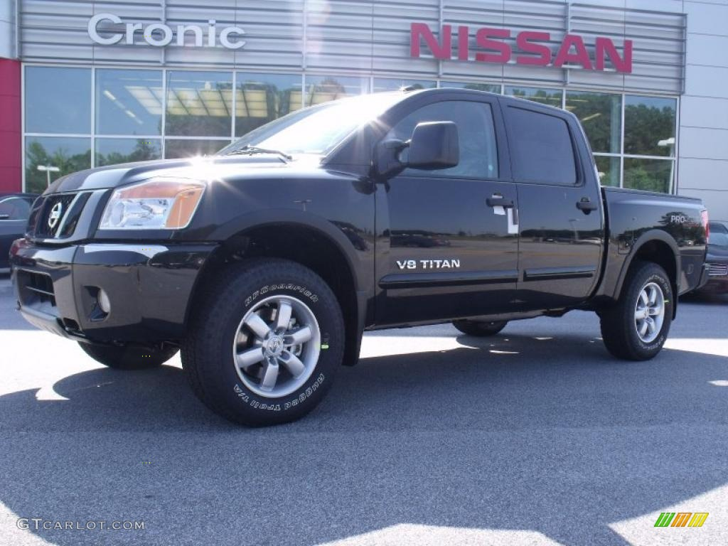 2010 galaxy black nissan titan pro 4x crew cab 4x4 31964137 car color galleries. Black Bedroom Furniture Sets. Home Design Ideas