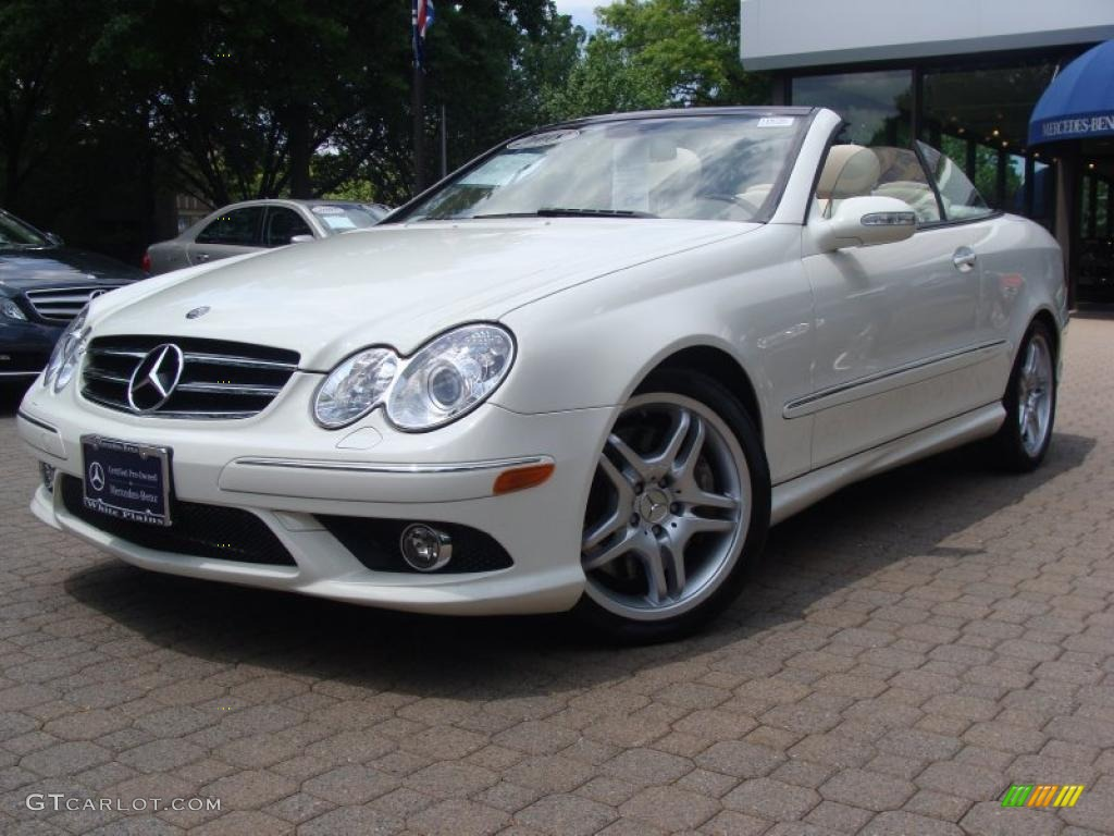 2008 Clk 550 Cabriolet Arctic White Stone Photo 1