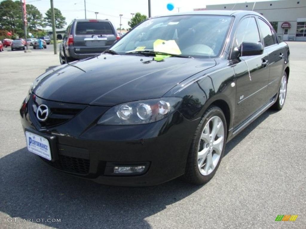 2007 black mica mazda mazda3 s grand touring sedan 31964028 car color galleries. Black Bedroom Furniture Sets. Home Design Ideas