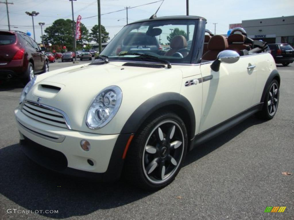 2007 Cooper S Convertible Sidewalk Edition Pepper White Lounge Malt Brown Photo 1