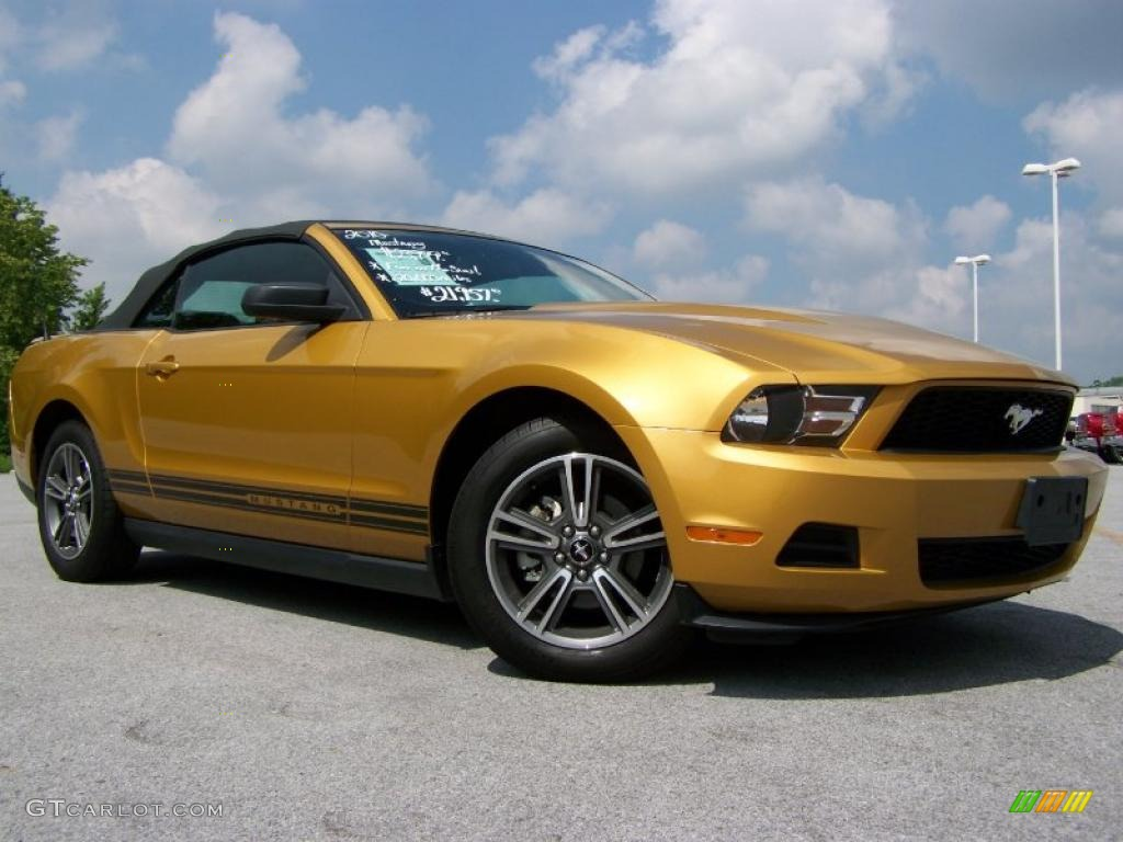 Sunset Gold Metallic Ford Mustang