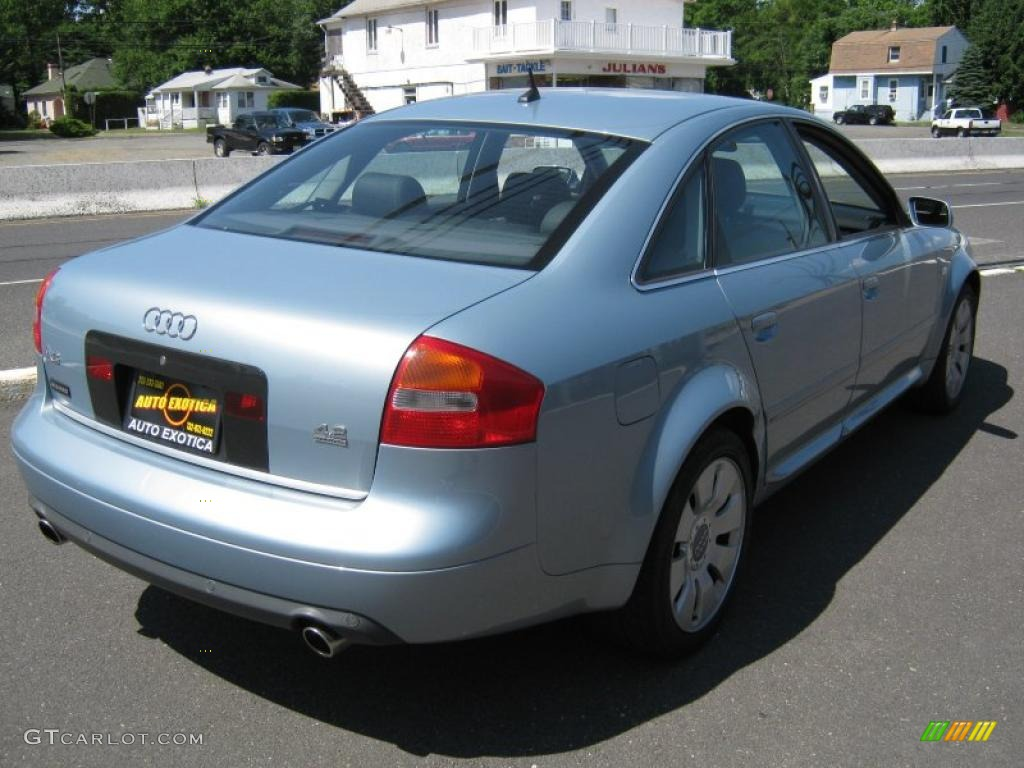 2002 crystal blue metallic audi a6 4 2 quattro sedan 31964488 photo 3 car. Black Bedroom Furniture Sets. Home Design Ideas