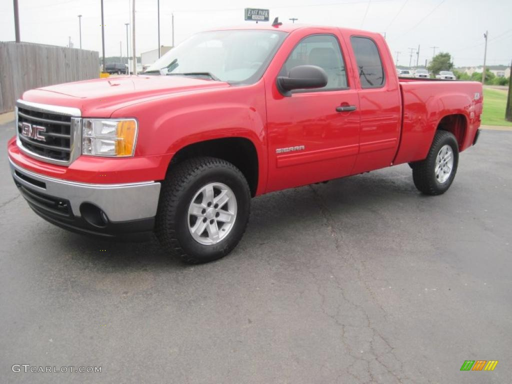 2010 fire red gmc sierra 1500 sle extended cab 4x4 31964299 car color galleries. Black Bedroom Furniture Sets. Home Design Ideas