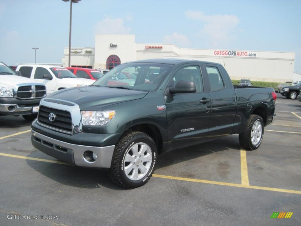 2009 timberland green mica toyota tundra sr5 double cab. Black Bedroom Furniture Sets. Home Design Ideas