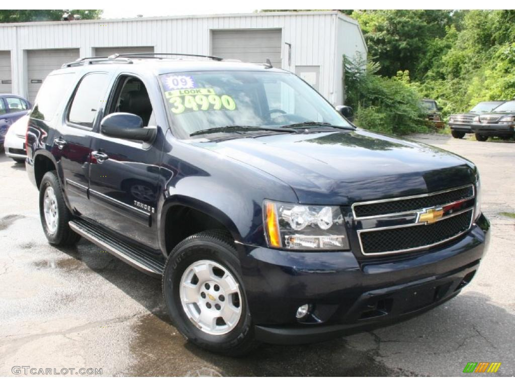 2009 dark blue metallic chevrolet tahoe lt 4x4 32025678 photo 3 car color. Black Bedroom Furniture Sets. Home Design Ideas