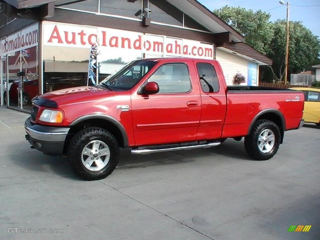 2002 Bright Red Ford F150 Fx4 Supercab 4x4 32025414