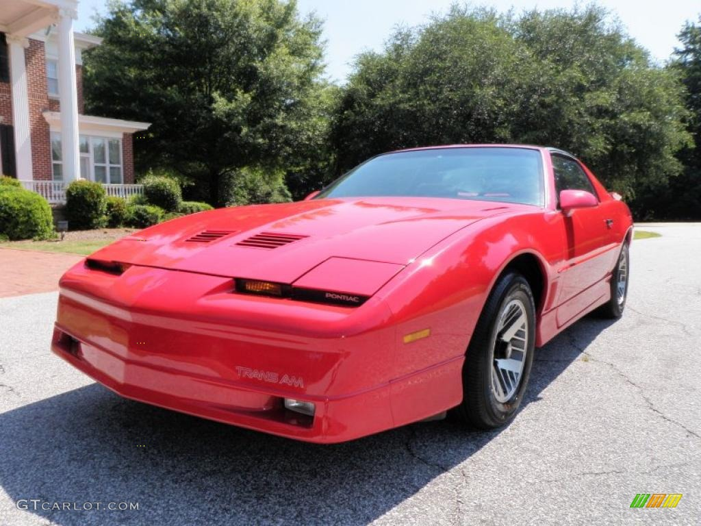 1989 brilliant red pontiac firebird trans am coupe. Black Bedroom Furniture Sets. Home Design Ideas