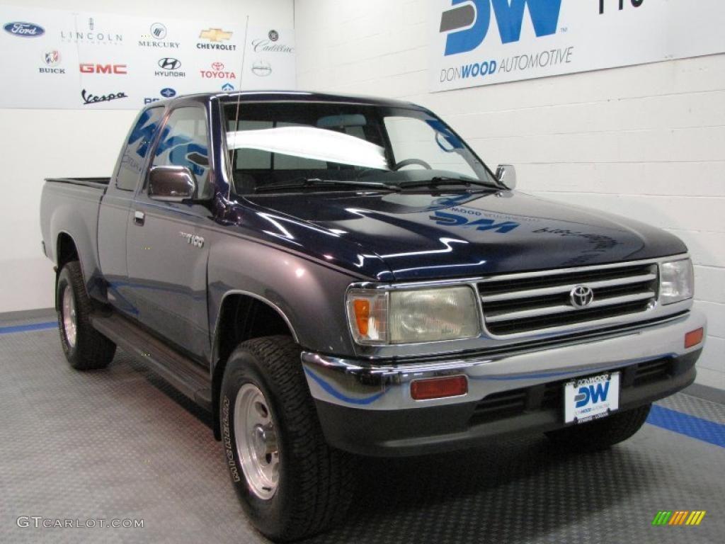 1998 Cool Steel Metallic Toyota T100 Truck Sr5 Extended Cab 4x4