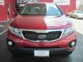 2011 Spicy Red Kia Sorento LX V6  photo #5