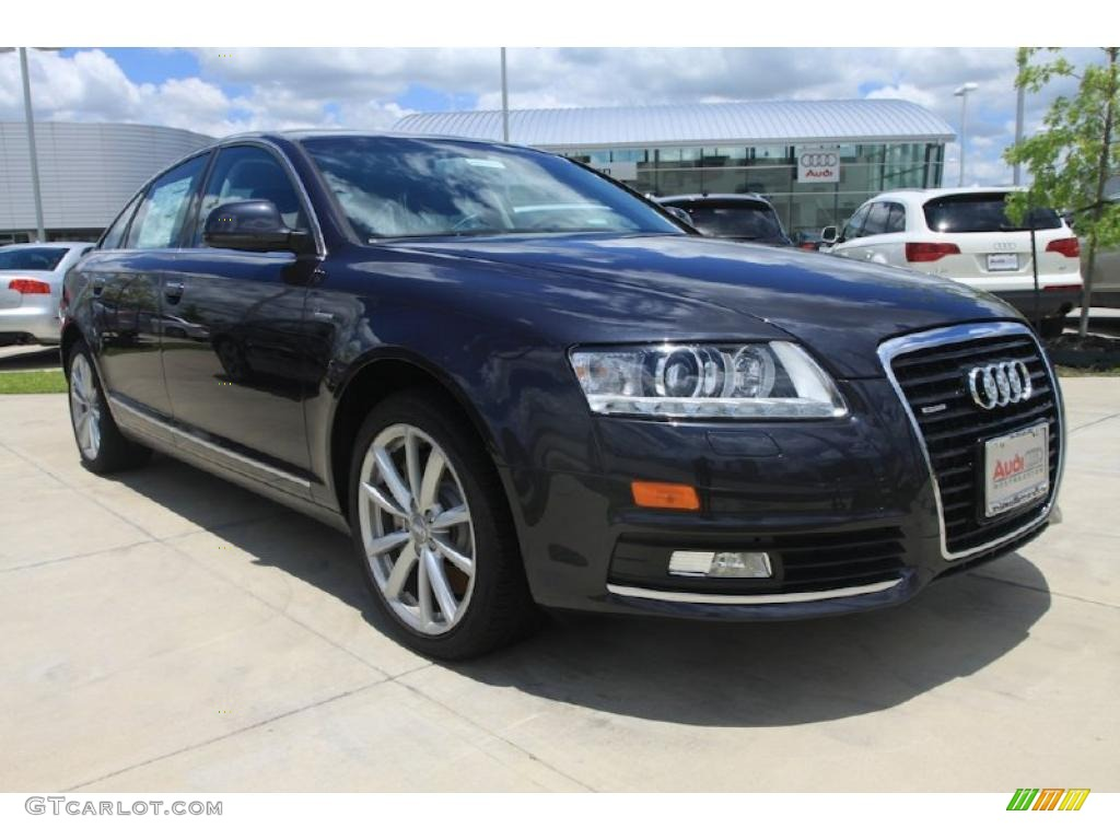 2010 oyster gray metallic audi a6 3 0 tfsi quattro sedan 32098584 car color. Black Bedroom Furniture Sets. Home Design Ideas