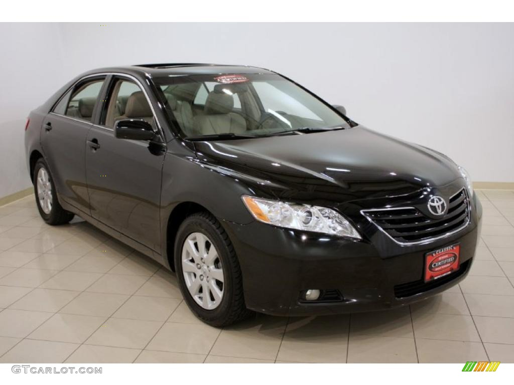 2008 black toyota camry xle v6 32098863 car color galleries. Black Bedroom Furniture Sets. Home Design Ideas