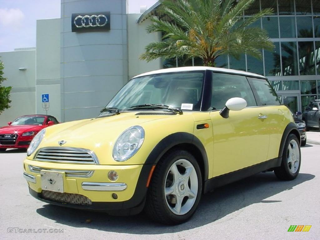 2004 liquid yellow mini cooper hardtop 32098276 car color galleries. Black Bedroom Furniture Sets. Home Design Ideas