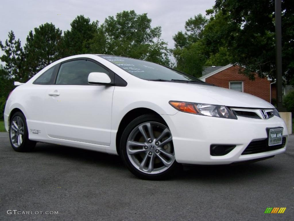 2008 Civic Si Coupe   Taffeta White / Black Photo #1