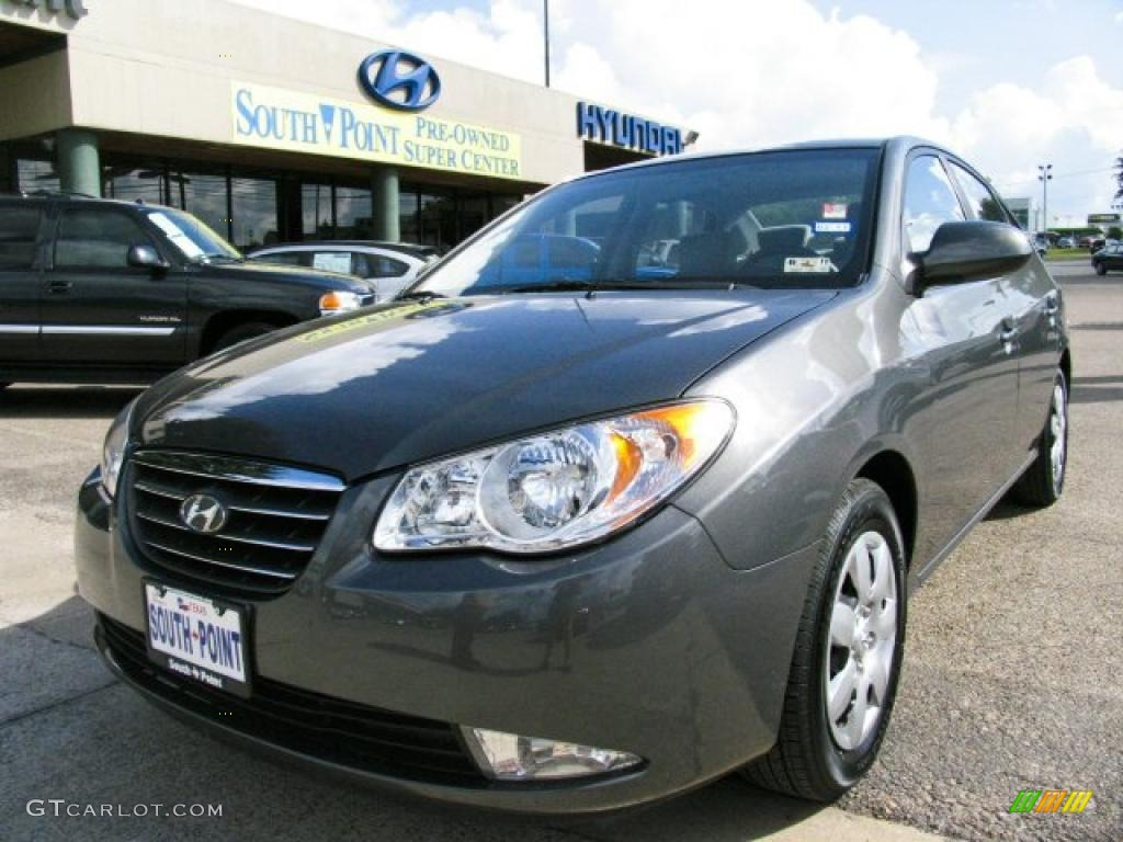 2009 Carbon Gray Hyundai Elantra Se Sedan 32098999 Car Color Galleries