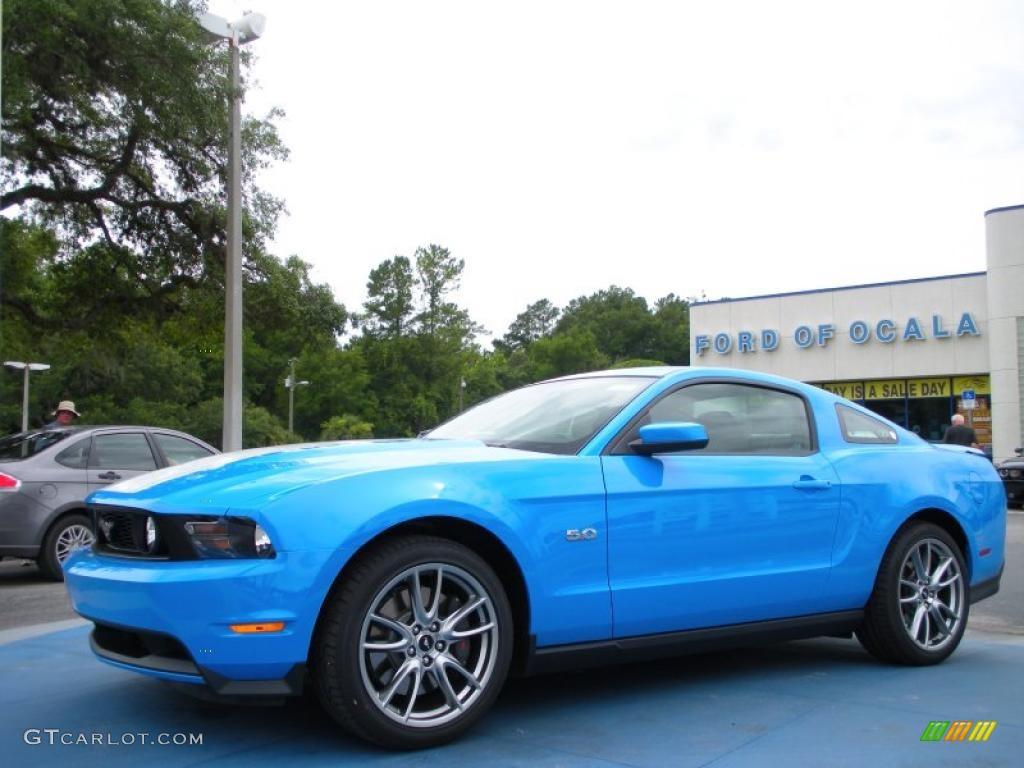 2011 Mustang GT Premium Coupe - Grabber Blue / Charcoal Black photo #1