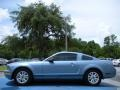 2007 Windveil Blue Metallic Ford Mustang V6 Deluxe Coupe  photo #2