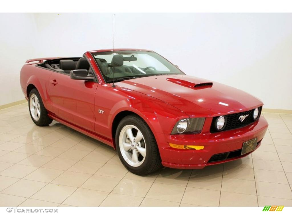 2008 Dark Candy Apple Red Ford Mustang Gt Premium