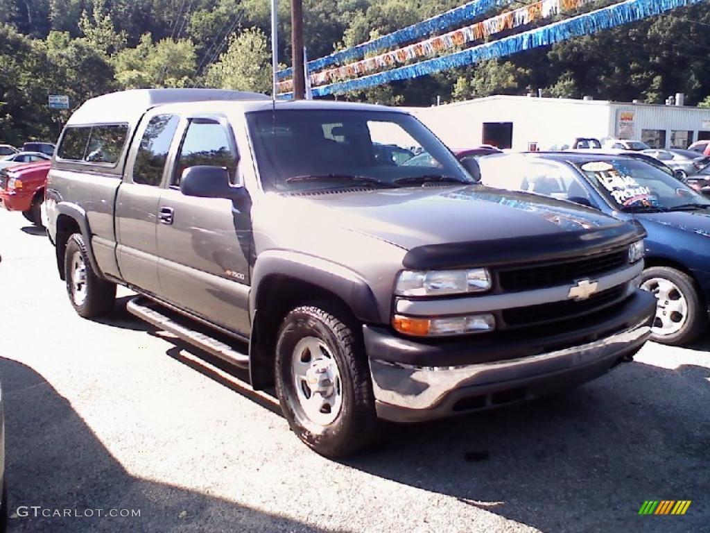 2000 Silverado 1500 Extended Cab 4x4 - Charcoal Gray Metallic / Graphite photo #1